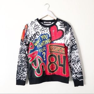 Bass by Ron Bass Graphic Crew Sweatshirt Pullover